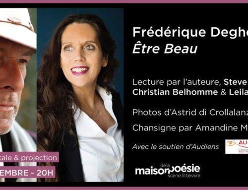 6 déc. 2019 – Lecture musicale Etre Beau, Maison de la Poésie